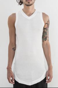 Julius_7 497CUM49 Geometric V-neck Tank Top