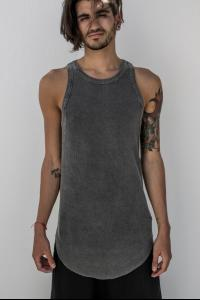 Lost&Found Curved Hem Elongated Slim Fit Tank Top