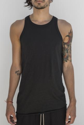 ROOMS by Lost&Found Asymmetric Elongated Tank Top