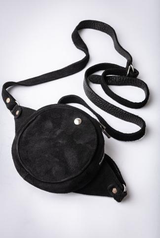 Guidi CBR03 BLKT Soft Horse Reverse Leather Cross Body Bag