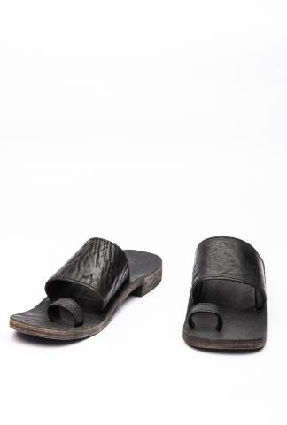 Ierib Reinforced Heel Waxed Horse Leather Sandals