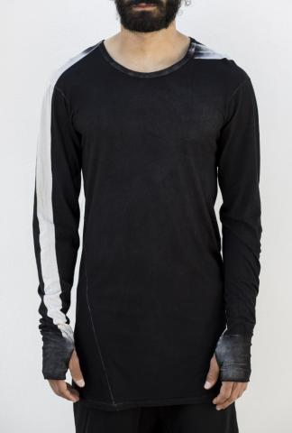 11 By BBS Charcoal long sleeve striped tee