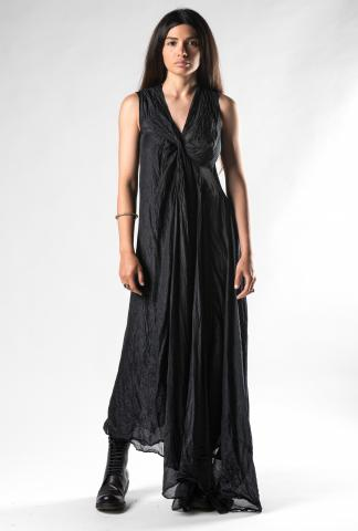 Marc Le Bihan Silk Knot Bust Asymmetric Dress