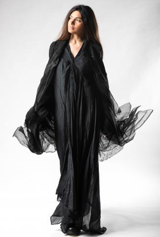 Marc Le Bihan Silk Knot Bust Asymmetric Dress