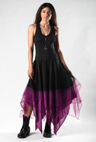 Marc Le Bihan Jersey Top, Layered Silk Organza Bottom Dress