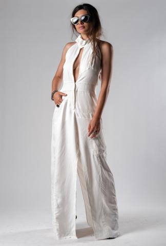 Alessandra Marchi Deconstructed Jumpsuit Dress
