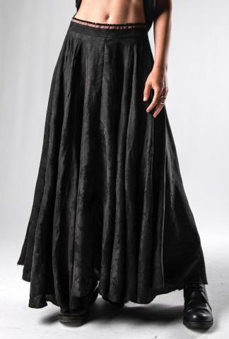 M.A+ Flower Weave Self Edge Long Wheel Skirt