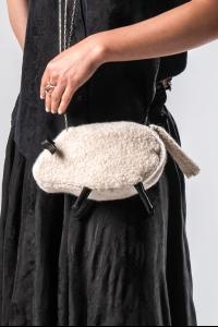 M.A+ BELA-C Sheep Bag with Silver Chain