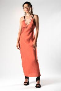 Alessandra Marchi Deconstructed Long Slip Dress