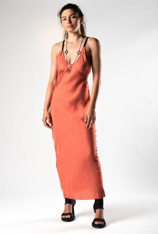 Alessandra Marchi Deconstructed Long Slip Dress
