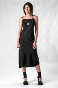Andrea Ya'aqov uneven hem slip 3/4 dress