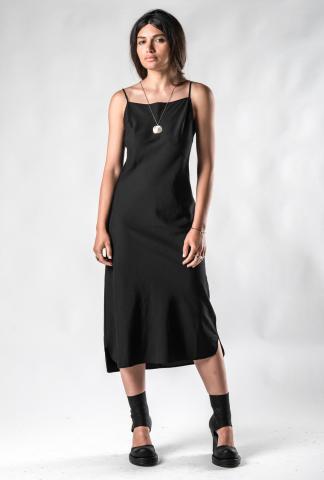 Andrea Ya'aqov uneven hem slip 3/4 dress