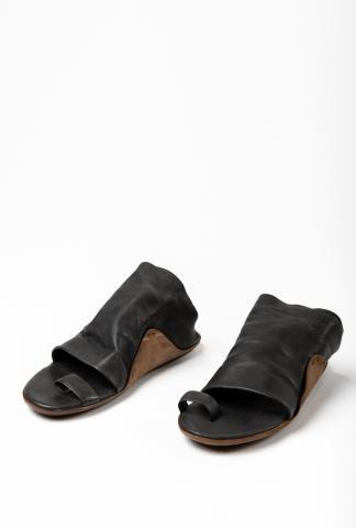 Uma Wang Toe Ring Leather Opanca Sandals