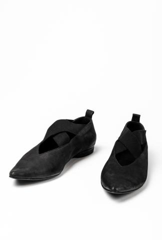 Uma Wang Elastic Pointy Leather Ballerinas