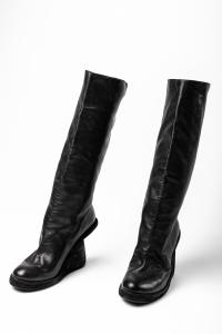 Guidi 6010W BLKT Soft Horse Full Grain Tall Half Wedge Boots