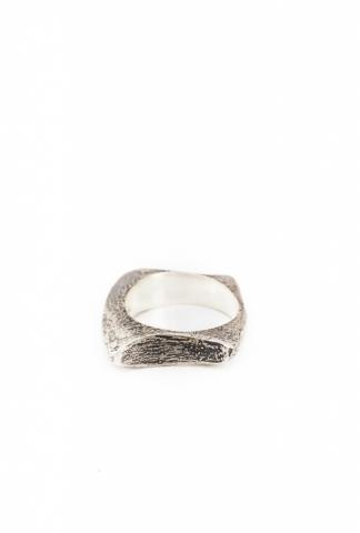 AMY GLENN ROUNDED RECT.RING  silver