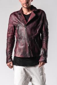 Leon Emanuel Blanck DIS-M-BJ-01 Anfractuous Distortion Horse Leather Biker Jacket