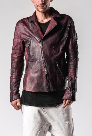 Leon Emanuel Blanck DIS-M-BJ-01 Anfractuous Distortion Horse Leather Biker Jacket