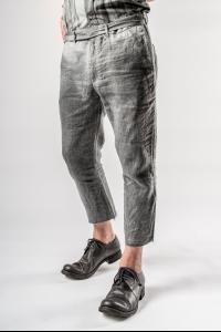 Sagittaire A. Slim Fit Trousers with Integrated Belt