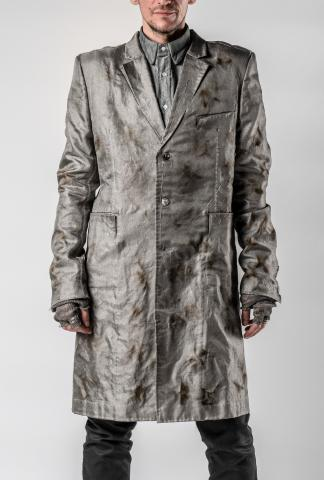 Sagittaire A. Burnt Metal Fiber Coat with Padded Carbon Fibre Shoulder Pads