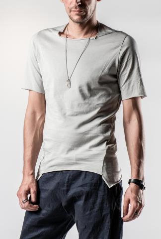 M.A+ T173C Unevenly Cut Short Sleeve T-shirt