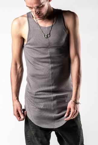 D.HYGEN Cross Panelled Asymmetric Tank Top