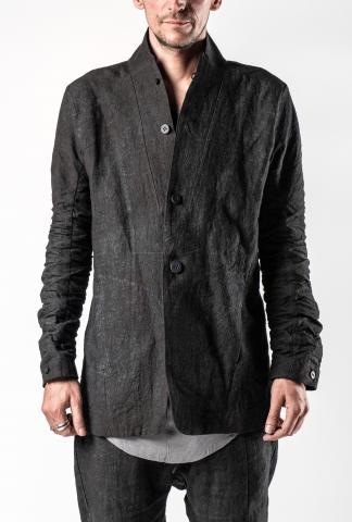 D.HYGEN Hand Dyed Linen Coated Tailored Blazer