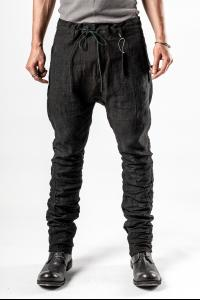 D.HYGEN Hand Dyed Linen Coated Trousers