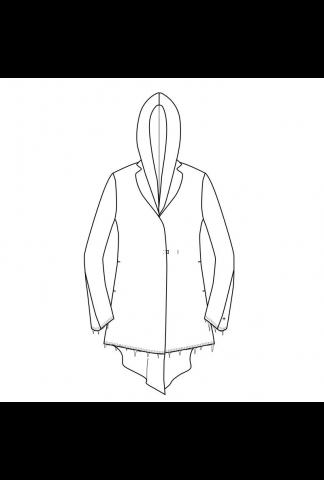 M.A+ long jacket with hood lining