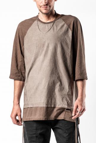 Andrea Ya'aqov Stringed Two-fabric Half Sleeve T-shirt