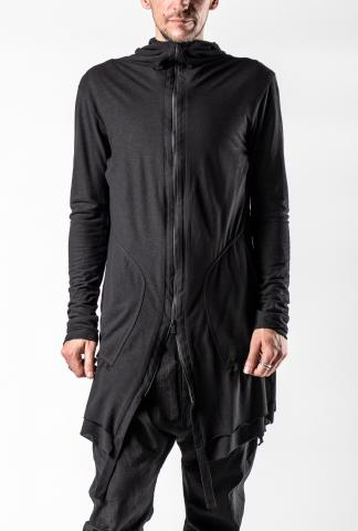 139DEC Layered Elongated Side Slit Hoodie