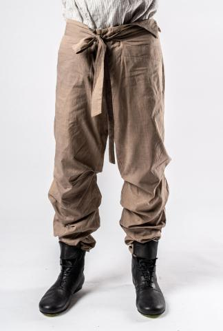 Chiahung Su Vintage Fabric Pleated Trousers