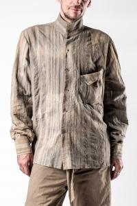 Chiahung Su Vintage Fabric Mandarin Collar Shirt
