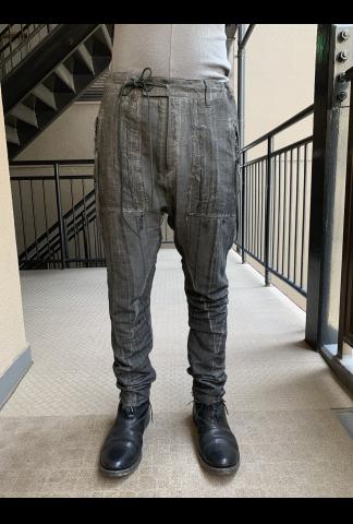 D.HYGEN stripe drop-crotch slim pants