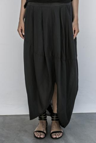 Poeme Bohemien Pleated Long Skirt with Slit