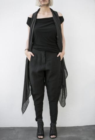 Masnada Fold-over Sleeveless Cardigan