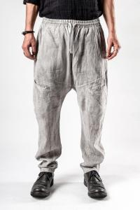 Mavranyma Unevenly Dyed Elasticated Low Crotch Trousers