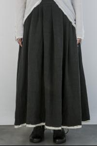 Nostrasantissima Belt Closure Layered Skirt