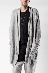 Mavranyma Textured Unevenly Dyed Long Cardigan