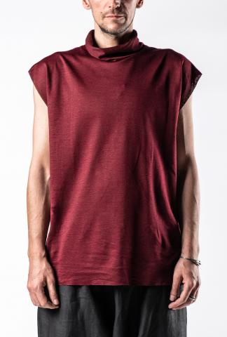 Kujaku Tsutsuji Sleeveless High Neck Pullover