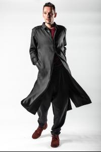 Kujaku Silk Blend Jinchoge Long Shirt