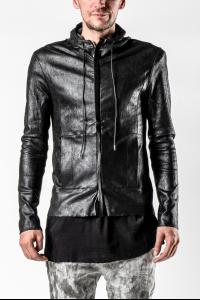 Giorgio Brato Thin Reversed Leather Hooded Jacket