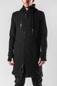 Boris Bidjan Saberi ZIPPER 3 Long Thick Cashmere Hoodie