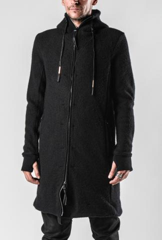 Boris Bidjan Saberi ZIPPER3 Long Thick Cashmere Hoodie