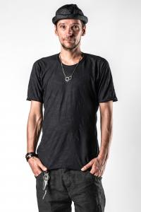 Layer-0 Asymmetric Distressed T-shirt