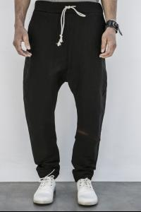 POEME BOHEMIEN drop crotch pants w/coulisse