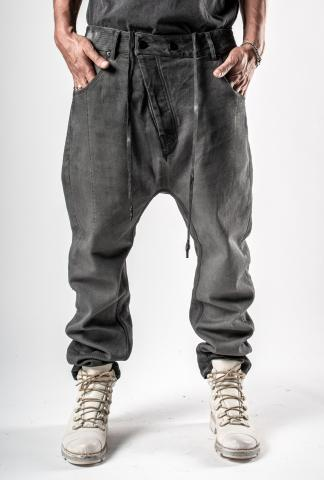11byBBS P4C Gradient Dye Low Crotch Baggy Buckle Trousers