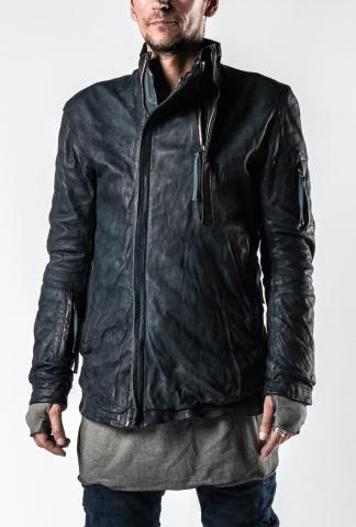 Boris Bidjan Saberi J5.1 1.5 Zipped Padded Leather Jacket