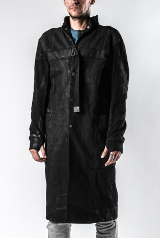 Boris Bidjan Saberi WORKCOAT2 Spine Back Strapped Work Coat