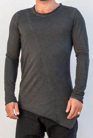 Masnada Asymmetric Elongated Long Sleeve T-shirt